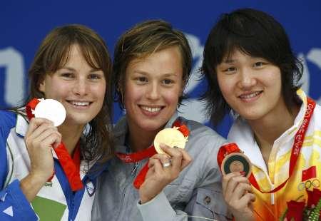 图文-女子200米自由泳决赛 庞佳颖获得一枚铜牌