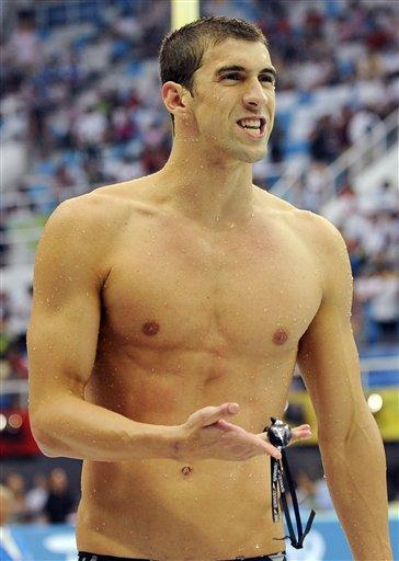 图文-菲尔普斯夺得200米蝶泳冠军 王者上岸