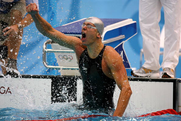 图文-奥运会男子50米自由泳决赛 一声怒吼无限激情
