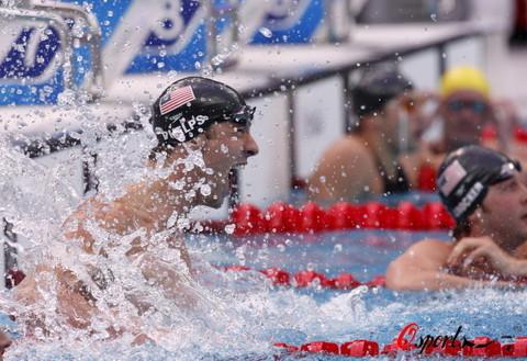 图文-菲尔普斯100米蝶泳夺第七金 其他人都是配角