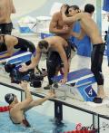 图文-男子4x100米混合泳接力 来吧队友