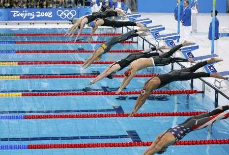 图文-男子1500米自由泳决赛 出发入水