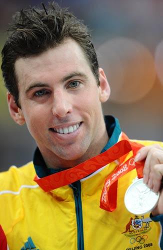 图文-男子1500米自由泳决赛 澳大利亚哈克特夺银牌