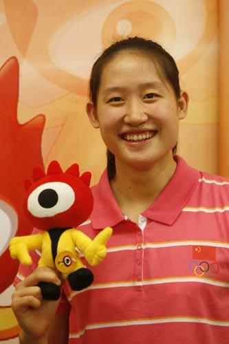 图文-冠军刘子歌做客新浪聊奥运 留下最美笑容
