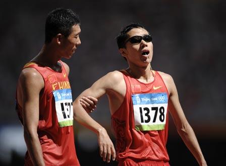 图文-男子20公里竞走决赛 王浩发挥出色去帮队友