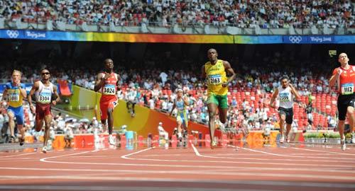 图文-奥运会男子200米预赛 牙买加人的速度很快