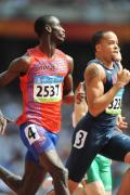 图文-奥运会男子200米预赛 挪威与美国选手