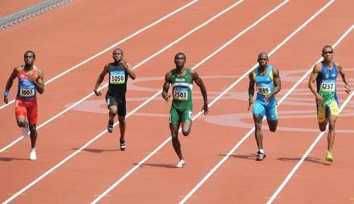 图文-奥运会男子200米预赛 激烈的竞争