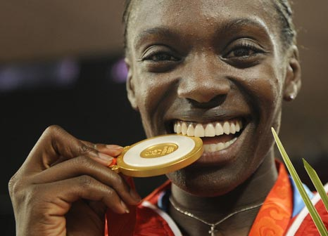 图文-奥运女子100米栏决赛赛况 金牌味道怎么样