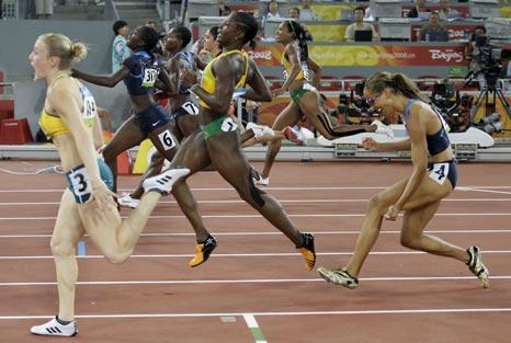 女子100米栏哈佩尔夺金