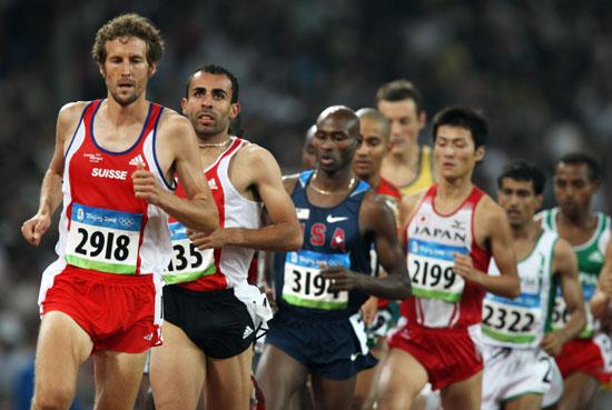 图文-奥运会男子5000米预赛 菲利普・班迪领跑