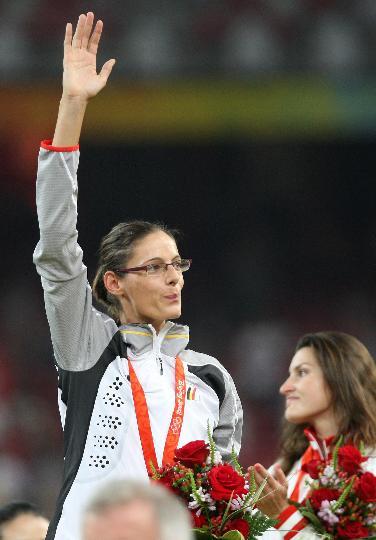 图文-田径女子跳高比利时夺金 埃勒博夺得金牌
