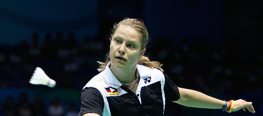 图文-羽毛球比赛开赛 德国选手尤利亚妮-申克