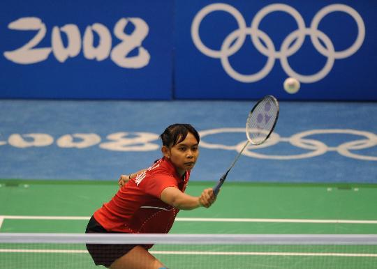 图文-羽毛球比赛开赛 印度尼西亚选手尤利安蒂