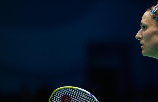 图文-羽毛球比赛开战 意大利选手阿莱格里尼
