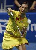 图文-[羽毛球]张宁顺利晋级16强 张宁反拍回球