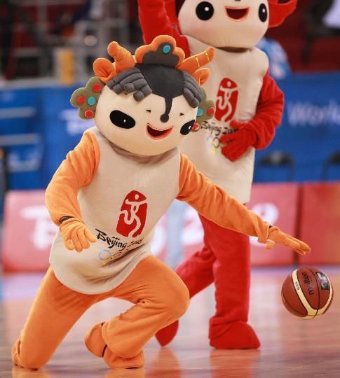 图文-女篮新西兰76-72胜马里 福娃抢球