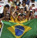 图文-巴西国奥VS新西兰国奥 桑巴球迷疯狂助威