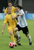 图文-[男足]阿根廷1-0澳大利亚 梅西也有小动作