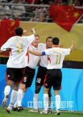 图文-中国国奥0-2比利时 国奥对手庆祝进球