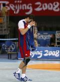 图文-手球四分之一决赛法国胜俄罗斯 遗憾的泪水