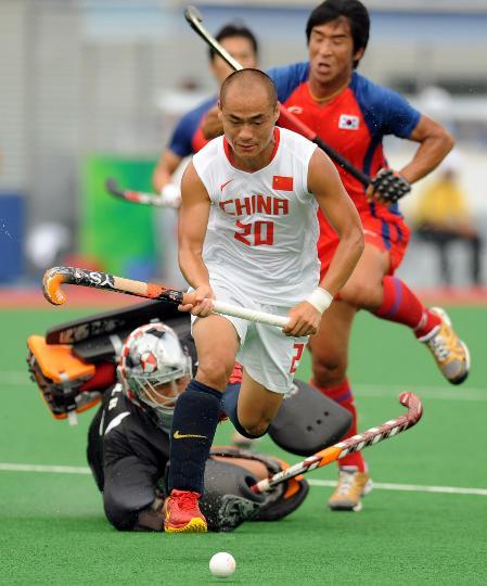 图文-[男子曲棍球]中国2比5负韩国 过了最后的防线