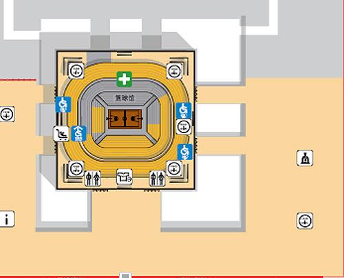 资料图片:北京奥林匹克篮球馆内部结构示意图