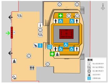 资料图片:北京科技大学体育馆座位图