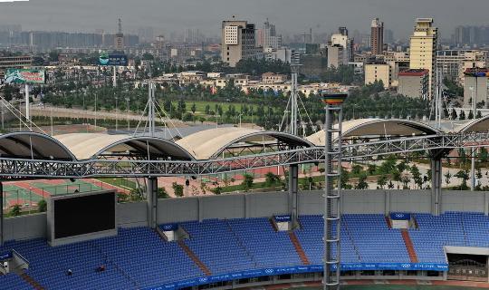 图文-来自6个协办城市的报告 秦皇岛奥体中心足球场