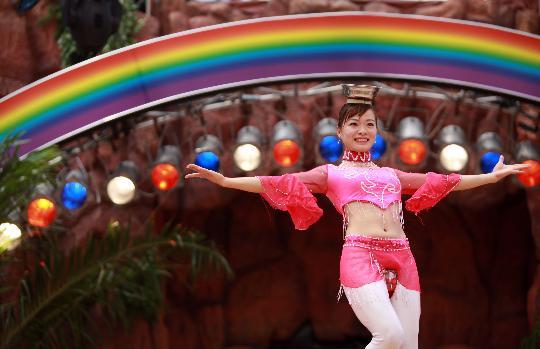 图文-奥运倒计时24小时 日本举办活动庆祝