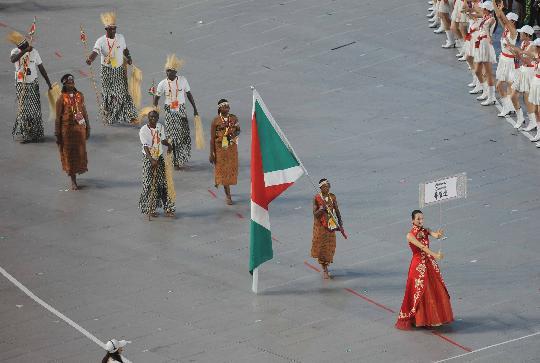 图文-北京奥运会开幕式入场式 布隆迪运动员入场