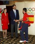图文-西班牙王储接见本国奥运代表团 与队员握手