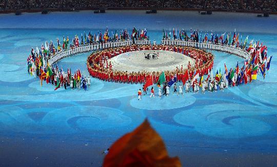 图文-北京奥运会闭幕式举行 闭幕式团团圆圆