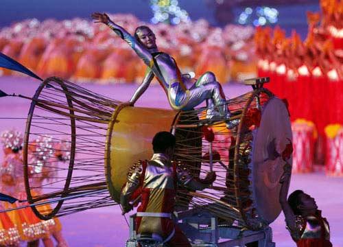 图文-2008北京奥运会闭幕式 闭幕式漂亮的演员