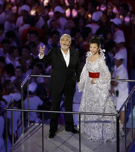 图文-2008北京奥运会闭幕式 宋祖英歌声嘹亮