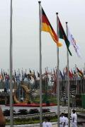 各代表团奥运村举行升旗仪式