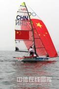 图文-奥运帆船帆板精彩回顾 中国队在比赛中