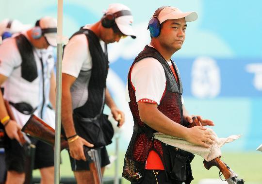 图文-中国选手李洋无缘决赛 李洋在比赛中