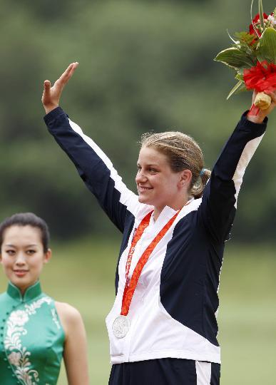 图文-女子飞碟多向决赛赛况 斯洛伐克选手获得亚军