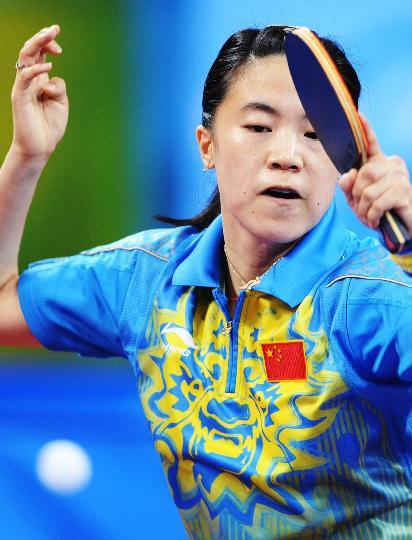 图文-[乒乓球]王楠进入女单八强 有时也要用巧力