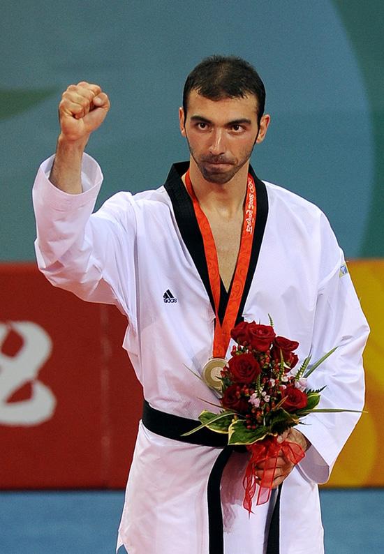 图文-[奥运]男子跆拳道+80KG 尼古拉迪斯夺得银牌