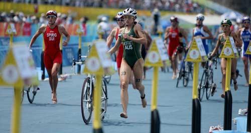 图文-女子组决赛尘埃落定 马上进入跑步阶段