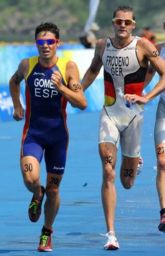 图文-男子铁人三项赛决赛 德国和西班牙铁人