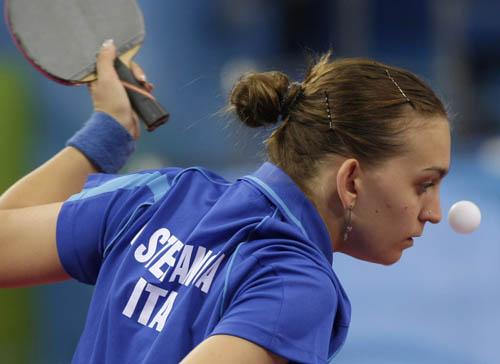 图文-奥运会19日乒乓球比赛赛况 美女球手引关注