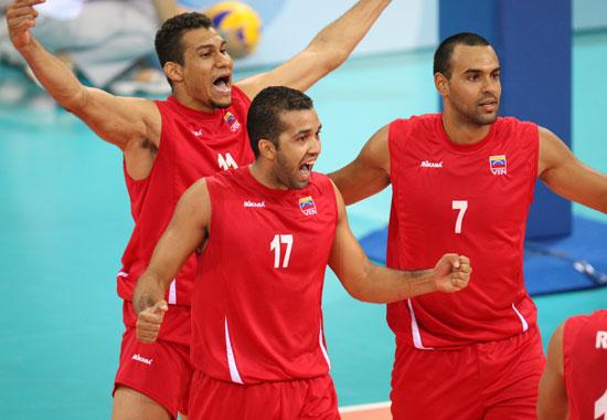 图文-[男排预赛]中国3-2委内瑞拉 委内瑞拉队庆祝