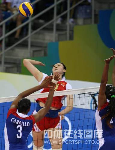 图文-[奥运]中国女排VS古巴女排 王一梅蓄势待发
