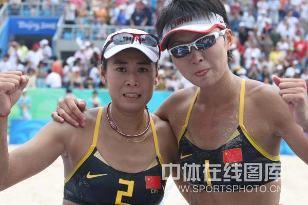 图文-女子沙排半决赛中国德比 这对组合闯进了决赛