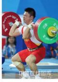 图文-举重77KG级李宏利摘银 李宏利在比赛中