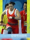 图文-曹磊打破75KG抓举奥运纪录曹磊准备出场试举
