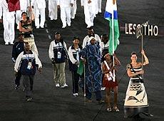 雅典奥运会开幕式 非洲莱索托代表团入场
